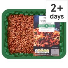 Tesco 5% Lean Beef, Carrot And Onion Mince 500G