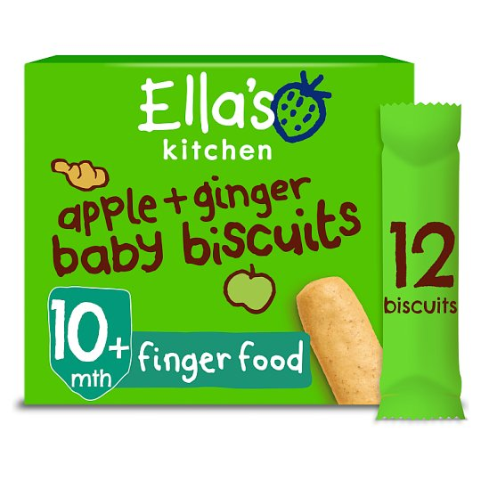 Ella's Kitchen Baby Biscuits Apple And Ginger 108G
