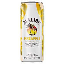 Malibu Coconut Rum & Pineapple 250Ml Can