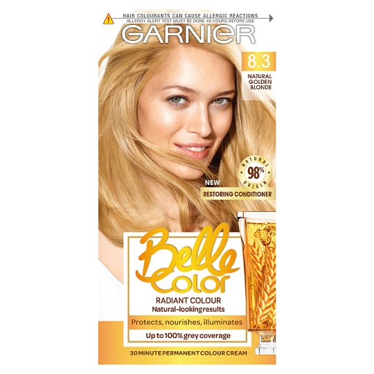 image 1 of Garn/Bel/Clr 8.3 Natural Baby Blonde Permanent Hair Dye
