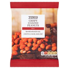 Tesco Bbq Flavoured Coated Peanuts 200 G