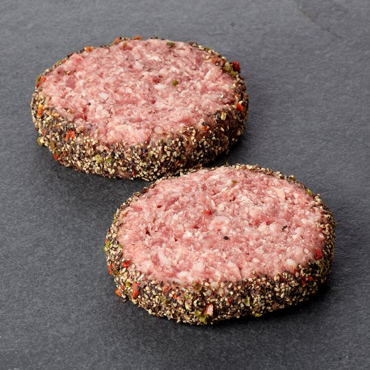 Tesco Finest Peppered Edge Burgers 277G