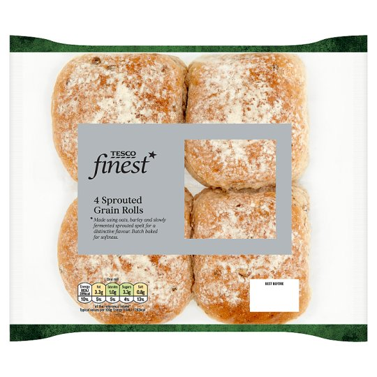 Tesco Finest Sprouted Grain Rolls 4 Pack