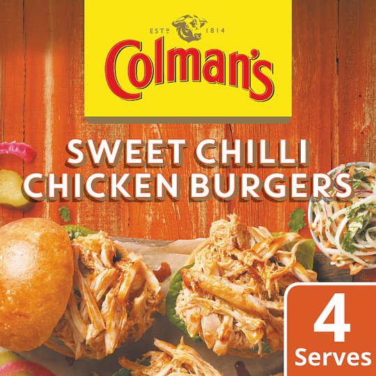 Colman's Share The Flavoured Chilli Chicken Burgers 45G