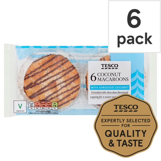 Tesco Coconut Macaroons 6 Pack