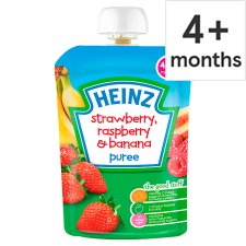 Heinz Fruit Pouch Strawberry Raspberry And Banana 100G