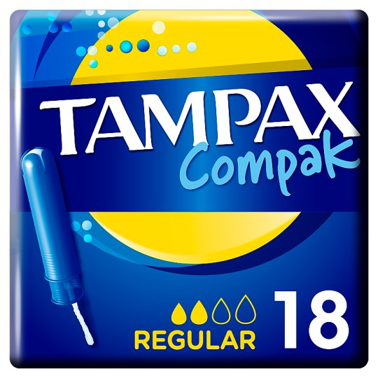 image 1 of Tampax Compak Regular Applicator Tampons 18