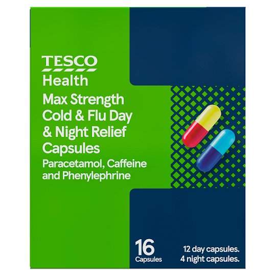 Tesco Max Strength Cold And Flu Day And Night 16