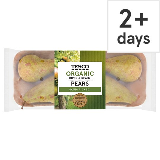 image 1 of Tesco Organic Ripe And Ready Pears 550G