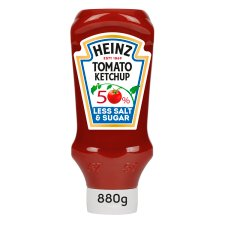Heinz Tomato Ketchup 50% Less Salt And Sugar 880G