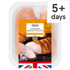 Tesco 2 British Chicken Breast Fillets 300G