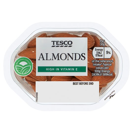 image 1 of Tesco Almonds Snack Pack 60G