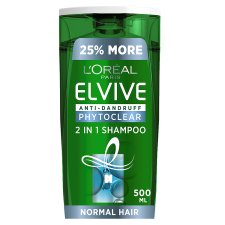 L'oreal Elvive Phyto Clear A/Druff 2 In1 Shampoo 500Ml