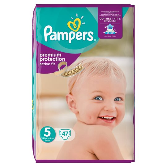 Pampers Active Fit Large Pack Size 5 X47