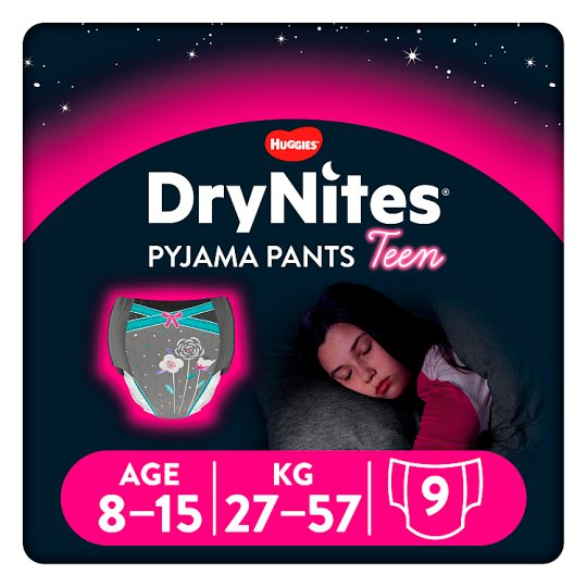 Drynites Girl Pyjama Pant Age 8-15 Years 9 Pants