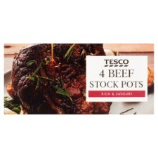 Tesco Beef Stockpot 4 Pack 112G