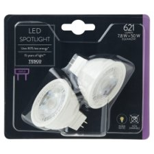 image 1 of Tesco Led 50W Gu5.3 2 Pack