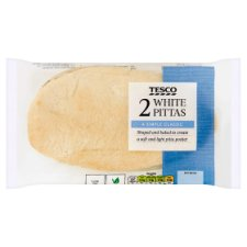Tesco 2 White Pitta Bread
