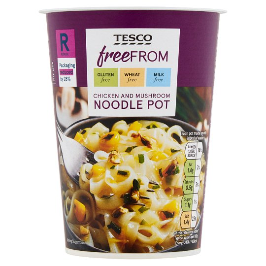 Tesco Free From Chicken And Mushroom Noodle 75G