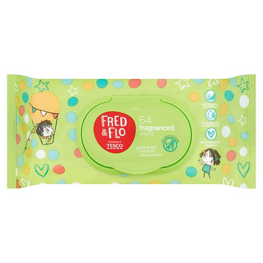 Fred & Flo Fragranced Wipes 64 Count