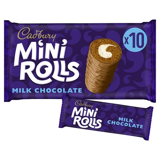 image 1 of Cadburys Chocolate Mini Rolls 10 Pack