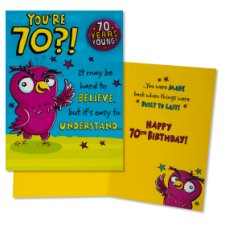 Hallmark Birthday Card 70Th With Badge