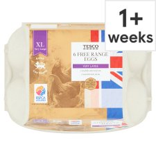 Tesco Very Large Free Range Eggs 6 Pack