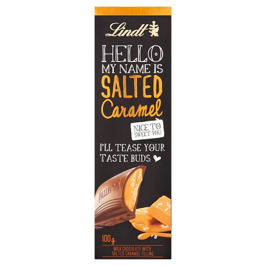 Lindt Hello Salted Caramel Chocolate Bar 100G