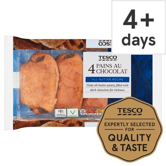 Tesco 4 All Butter Pains Au Chocolate