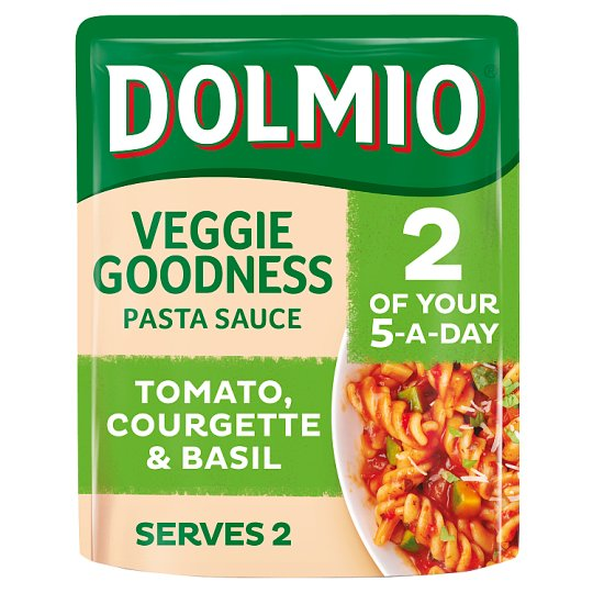 Dolmio Tomato Courgette And Basil Pasta Sauce 340G