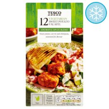 Tesco 12 Vegan Sweet Potato Falafel 264G