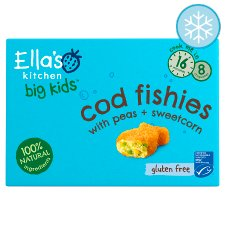 Ella's Kitchen Big Kids Cod Fishies With Vegetable 200G