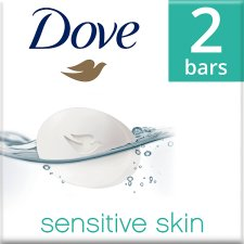 Dove Pure And Sensitive Bar Soap 2X100g