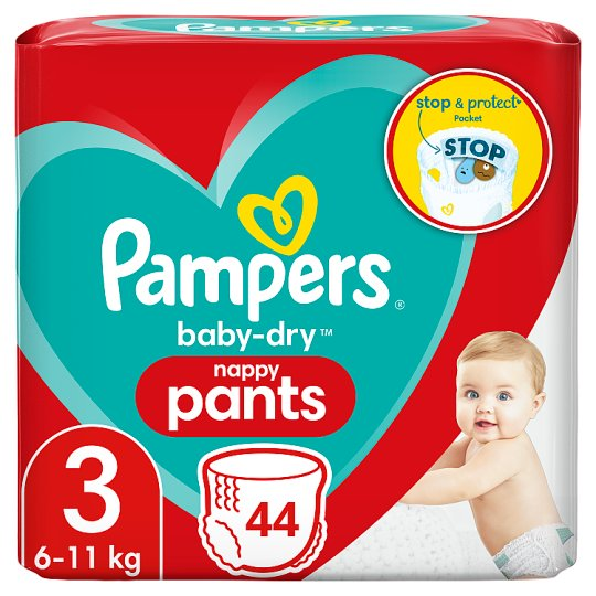 image 1 of Pampers Baby Dry Pants Size 3 Essential Pack 44 Nappies