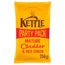 Kettle Chips Mature Cheddar And Red Onion 250G
