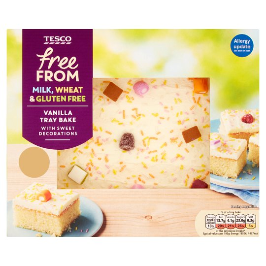 Tesco Free From Vanilla Traybake