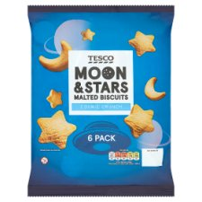 Tesco Moon & Stars Biscuit 6 Pack 108G