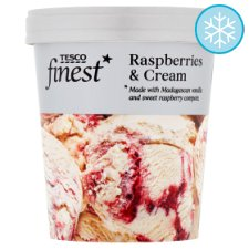 Tesco Finest Ice Cream Raspberry And Cream 480Ml