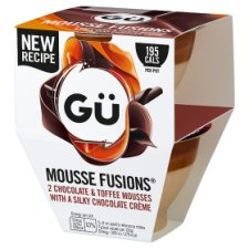 Gu Mousse Fusion Chocolate And Toffee Mousse 2 X 70G