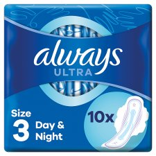 Always Ultra Night Size 3 Sanitary Towels With Wings 10