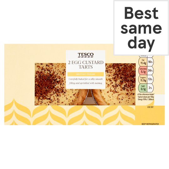 Tesco Egg Custard Tarts 2 Pack