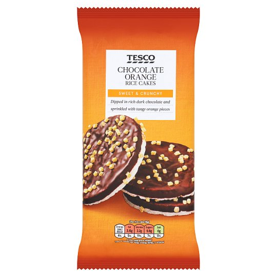 Tesco Dark Chocolate And Orange Rice Cakes 108G