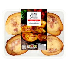 Tesco 5 Cheese & Bacon Potato Skins 306G