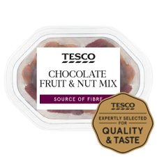 Tesco Chocolate Fruit And Nut Mix Snack Pack 60G