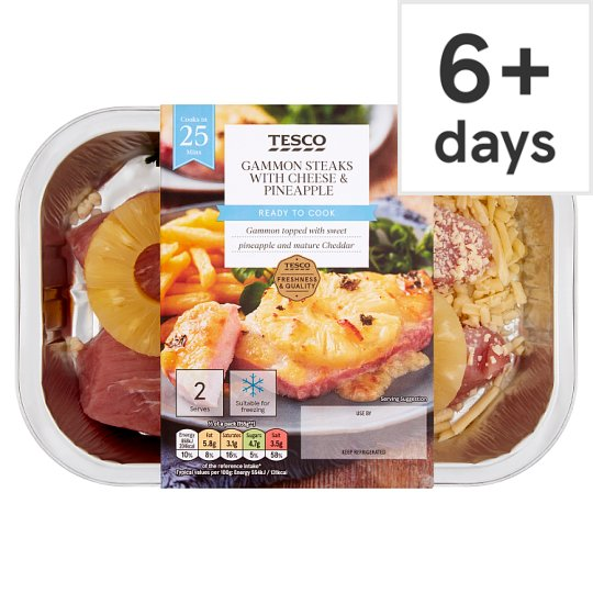 Tesco Gammon Steak With Cheese And Pineapple 345G