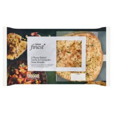 Tesco Finest 2 Garlic & Coriander Naan Breads