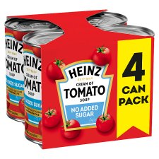 Heinz No Added Sugar Tomato Soup 4 Pack X 400G