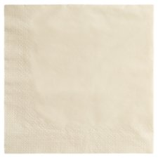 Tesco Napkins Cream 33Cm 50 Pack