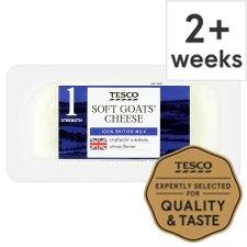 Tesco British Goats Cheese 125G