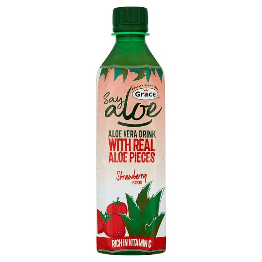 Grace Aloe Vera Strawberry Drink 500Ml